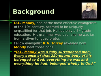 Religion - Key Figures - Dwight L Moody