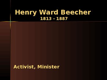 Religion - Key Figures - Henry Ward Beecher