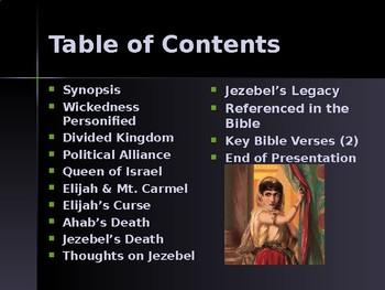 Religion - Enemies of God in the Old Testament - Ahab & Jezebel