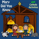 "Religion Music: ""Mary Did You Know"" plus Catholic Bible Activities"