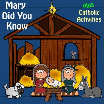 """Religion Music: """"Mary Did You Know"""" plus Catholic Bible Activities"""