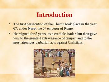 Religion - Nero Persecutes the Christians
