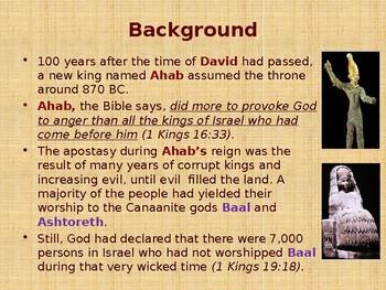 Religion - Old Testament Prophets - Elijah