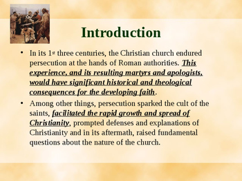 Religion - Persecutions of the Early Church