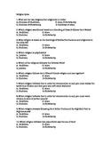 Religion Quiz - Middle School