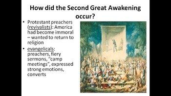 US History Unit 1.3 - Religion & Reform Movements PowerPoints - early 1800s