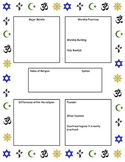Religion Research Unit - Interactive Timeline, Tests, Study Guide, Resources