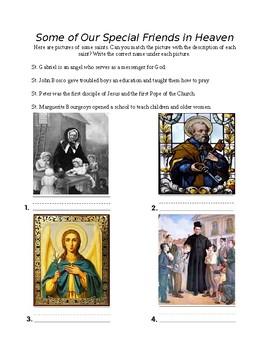 Religion Saints Worksheet