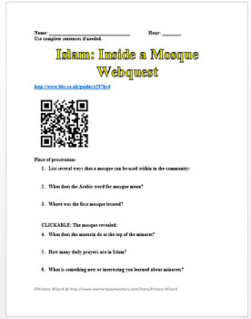 Religion: Synagogues, Churches, and Mosques Webquest Collection