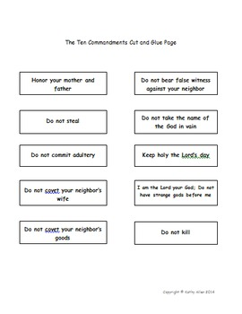 10 Commandments Grades 4-6