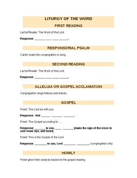 Religion Test - Call and Response