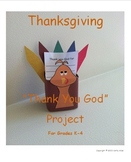Thanksgiving Day Craft - Thank You God Art Project