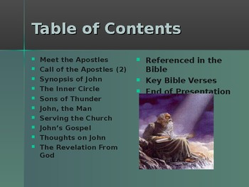 Religion – The Apostles of Jesus – John