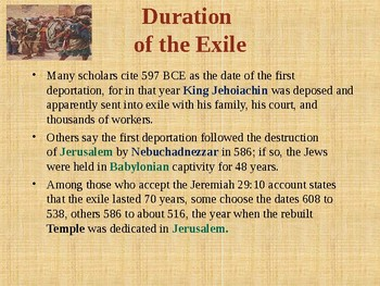 Religion – The Babylonian Exile