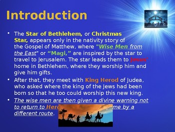 Religion - The Story of Christmas - The Star of Bethlehem
