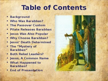 Religion - The Easter Story - Barabbas