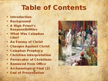 Religion - The Easter Story - Caiaphas - Jewish High Priest