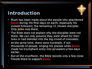 Religion - The Easter Story - Who Were the People at the Cross?