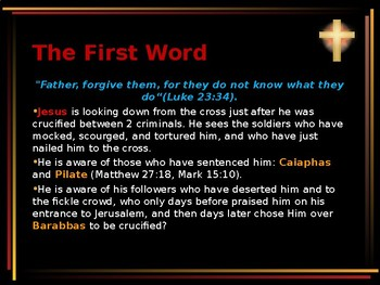 Religion - The Easter Story - Words of Jesus on the Cross