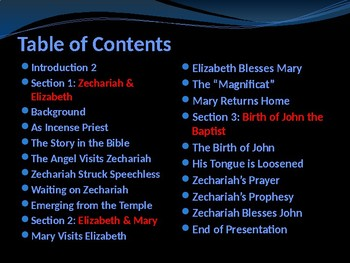 Religion - The Story of Christmas - Part 2 - Elizabeth, Zechariah & John
