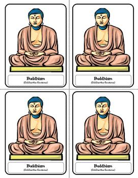 Religion Trading Cards:  Buddhism