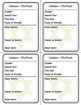 Religion Trading Cards: Judaism