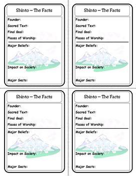 Religion Trading Cards: Shinto