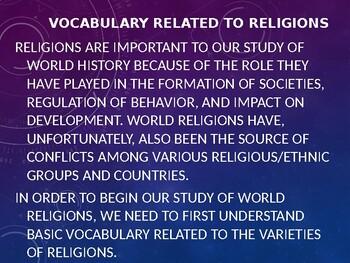 Religion Vocabulary