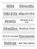 Religion Word Wall (Catholic/Christian)