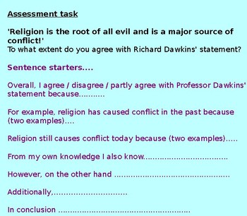 Religion and Conflict Assessment