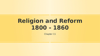 Religion and Reform 1800 - 1860