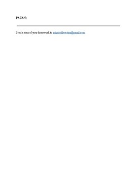 Religion and Vocabulary Worksheet