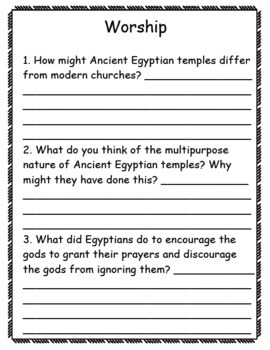 Religion in Ancient Egypt Pack