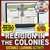 Religion in the American Colonies Activity