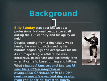 Religion - Evangelists - Billy Sunday