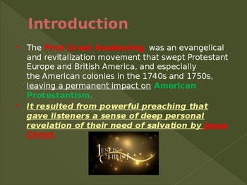 Religion in the United States - The First Great Awakening