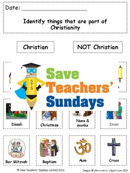 Religions Unit (68 lessons K-2nd grade)