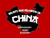 Religions of China PowerPoint NOTES-Confucianism, Taoism, and Buddhism
