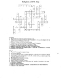 Religions of SW Asia Crossword Puzzle --- Answer Key Included