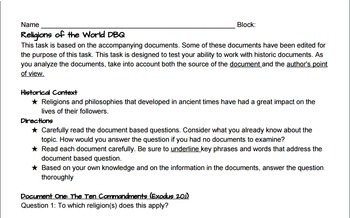Religions of the World DBQ