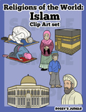 Religions of the world: Islam Clip art set