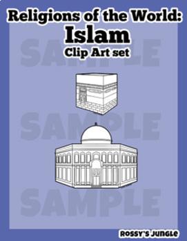 Religions of the world: Islam Clip art set