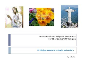Inspirational And Religious Bookmarks For The Teacher Of Religion