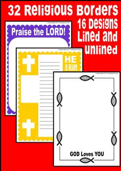 A4 Religious Borders Pages 15 Designs x 2 BIBLE STUDY PDF and .PNG files