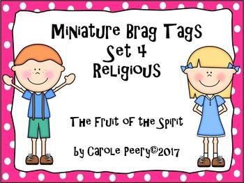 Miniature Brag Tags Set 4 Religious Fruit of the Spirit