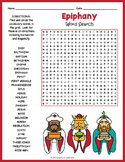 THREE KINGS DAY Activity - Epiphany Word Search Worksheet
