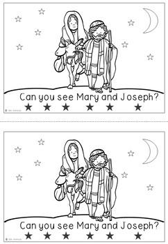Religious Christmas Emergent Reader