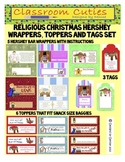 Religious Christmas Hershey Bars, Tags and Toppers Set
