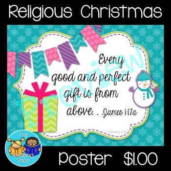 Religious Christmas Poster _ James 1:17