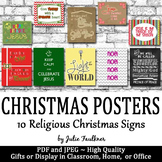 Religious Bible Christmas Posters - Great Gifts or Writing Prompts